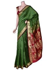 Art Silk Saree In Green