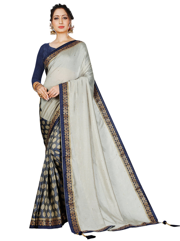 Leema Grey Silk Saree