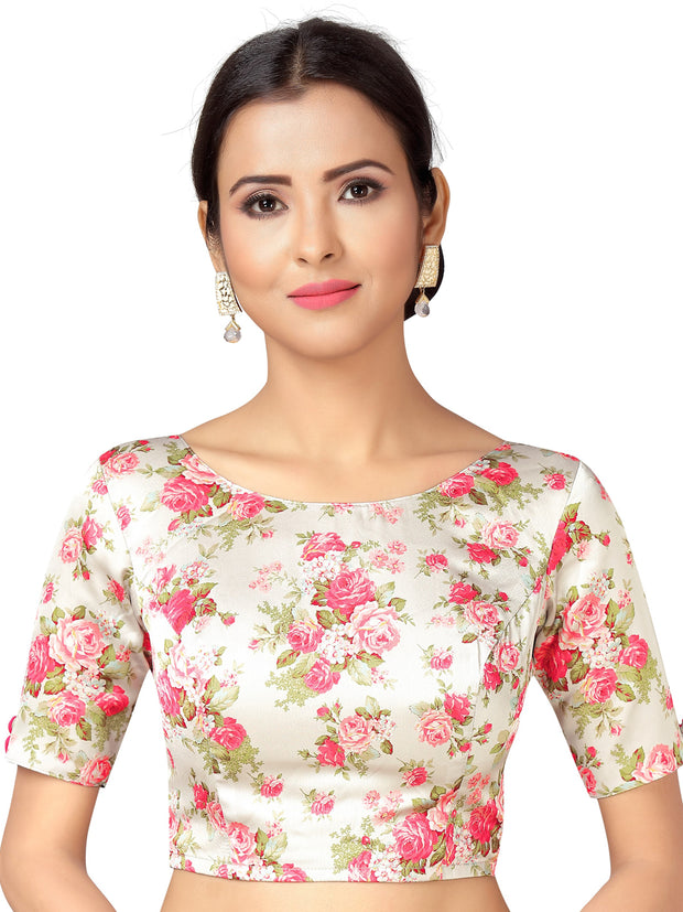 Stylish Printed Saree Blouse