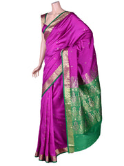 Art Silk Saree In Purple Pink