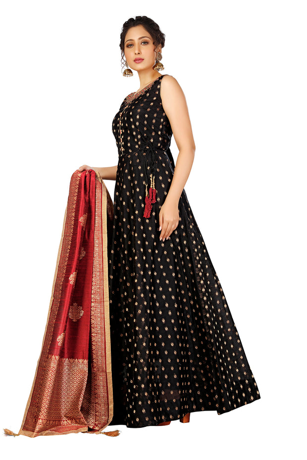 Clara Black Anarkali Suit