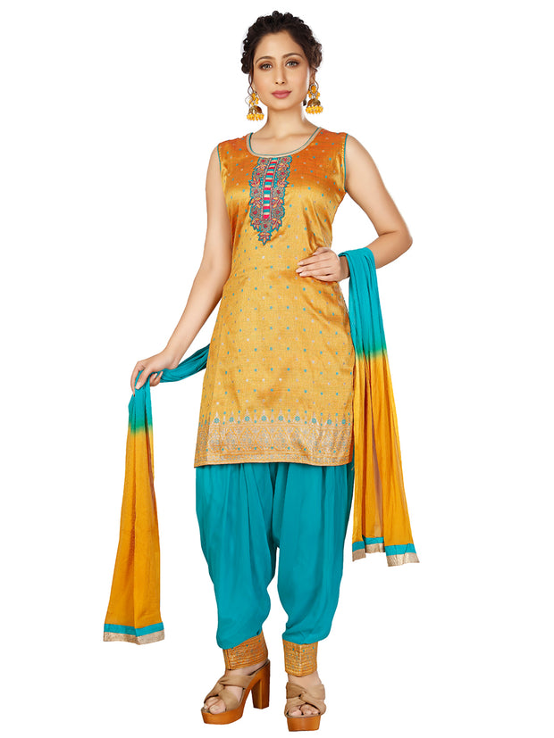 Julia Cotton Silk Patiala Suit