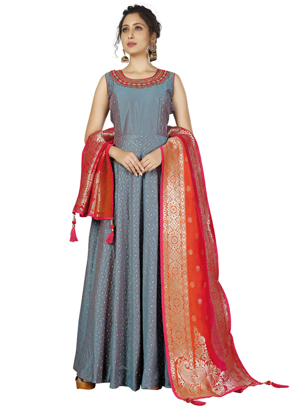 Desha Cotton Silk Anarkali Suit