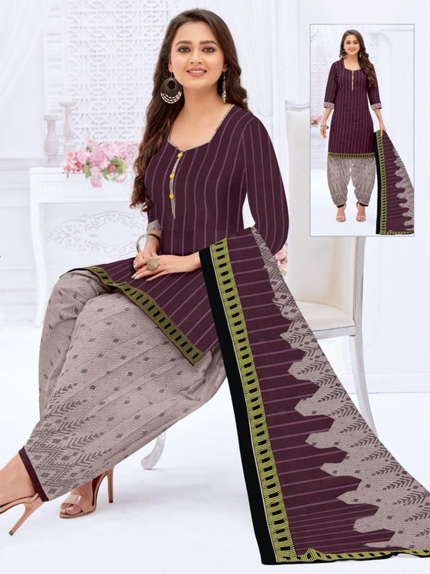 Khushi Deep Purple Salwar Suit