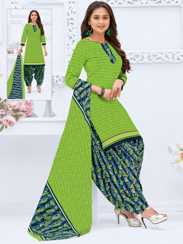 Khushi Green & Navy Salwar Suit