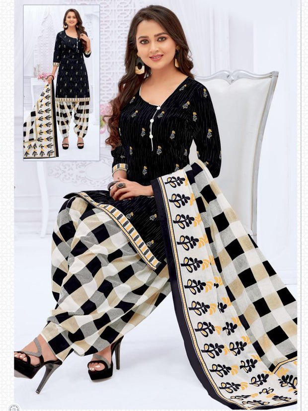 Khushi Black & White Salwar Suit