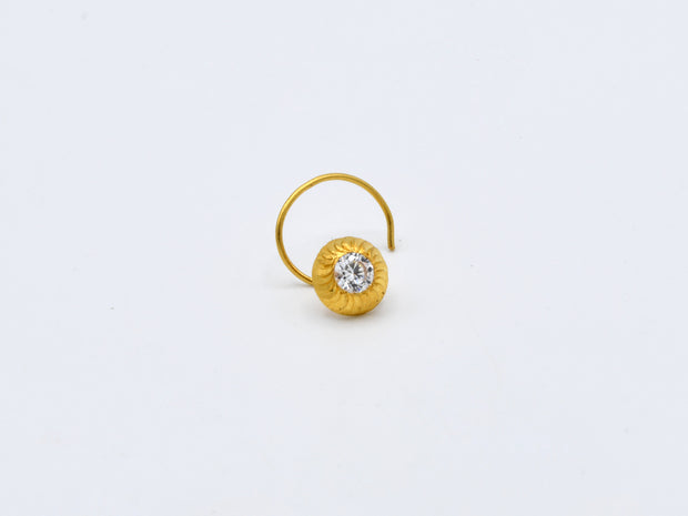 22ct Gold CZ Nose Pin - 3.5 mm