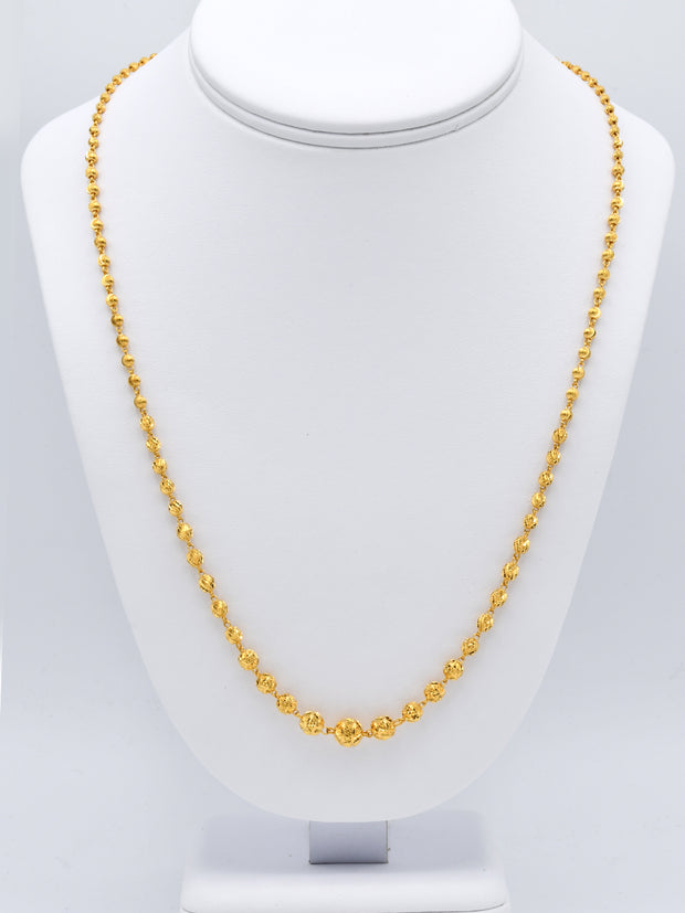 22ct Gold Ball Mala Chain