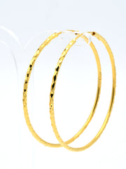 22ct Gold Diamond Cut Hoop Bali