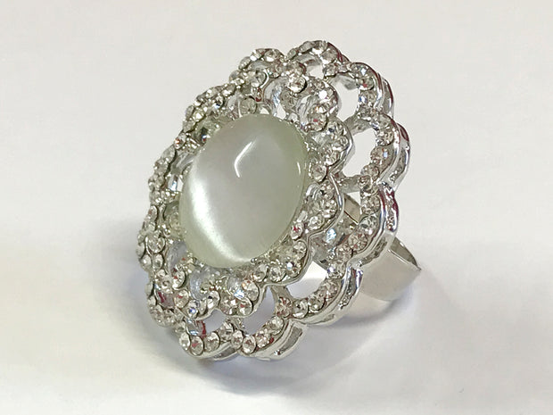 Silver Big Top Ring