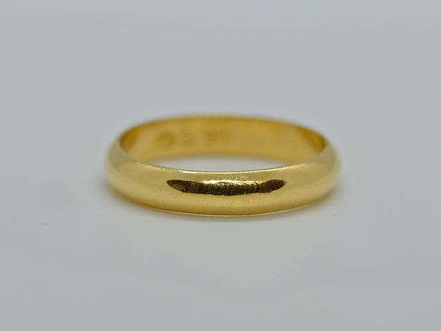 22ct Gold Plain Band Ring