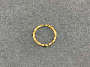 22ct Gold Hammered Nose Ring - Roop Darshan