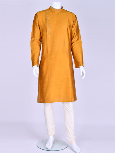 Mustard Embroidered Kurta Pyjama