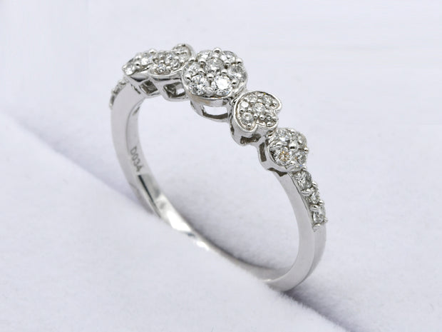 18ct White Gold 0.34ct Diamond Ring