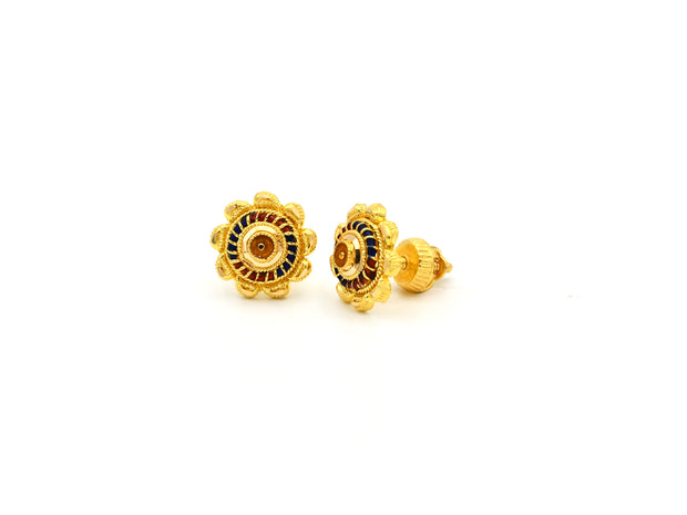 22ct Gold Mina Stud Earrings
