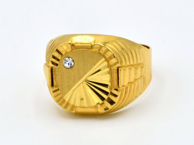 22ct Gold CZ Mens Ring