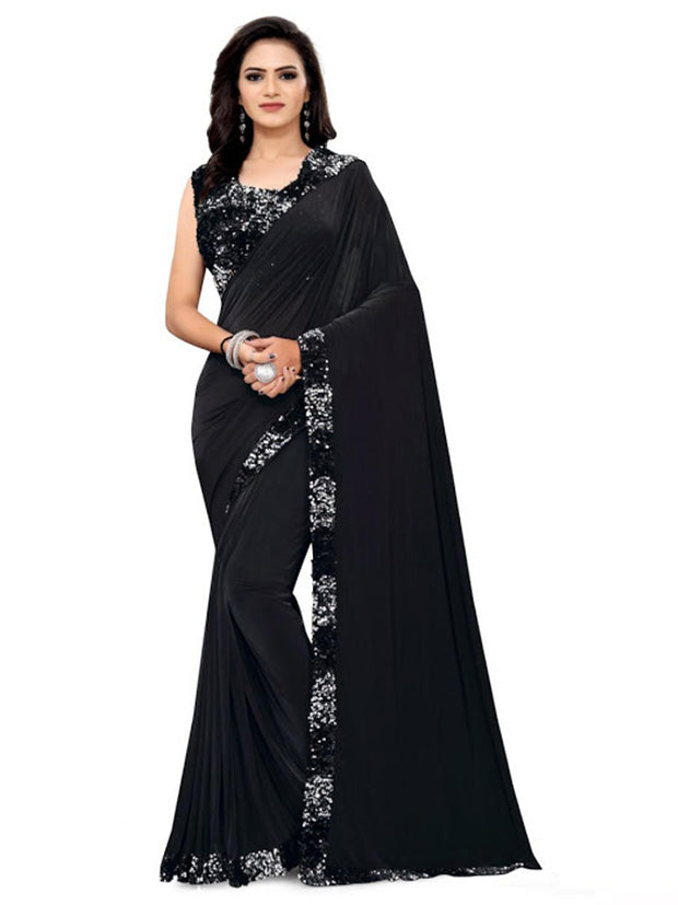 Anamika Lycra Saree with Readymade Blouse