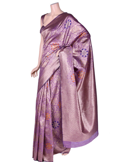 Beautiful Silk Saree In Purple Pink