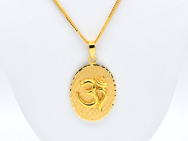 22ct Gold Oval Shape OM Pendant