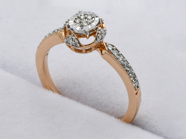 18ct Rose Gold 0.164ct Diamond Ring