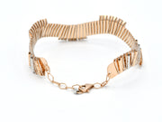 18ct Rose Gold Rhd 1 Piece Bangle