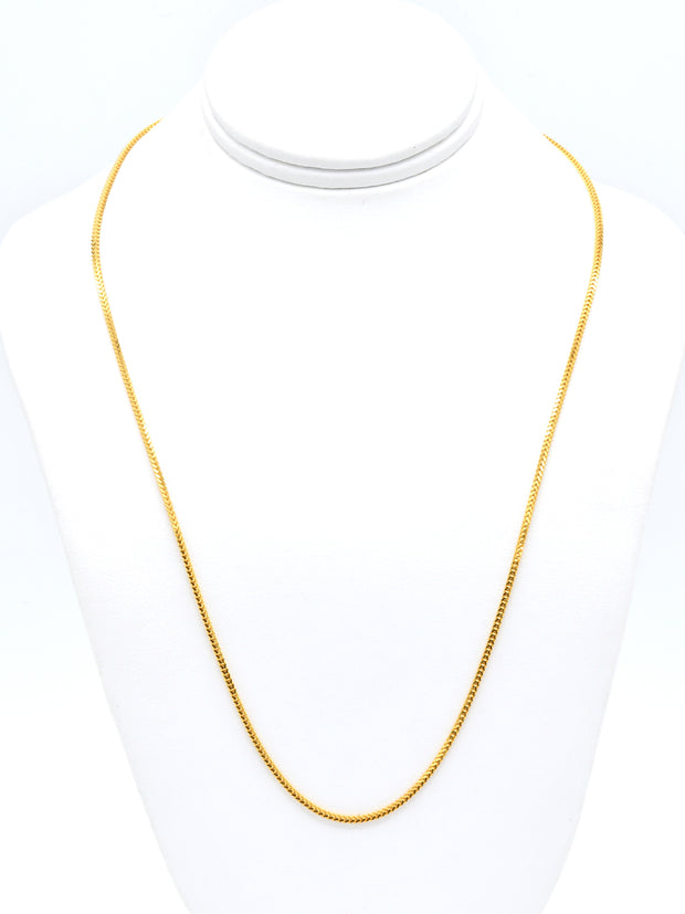 22ct Gold Fox Tail Chain