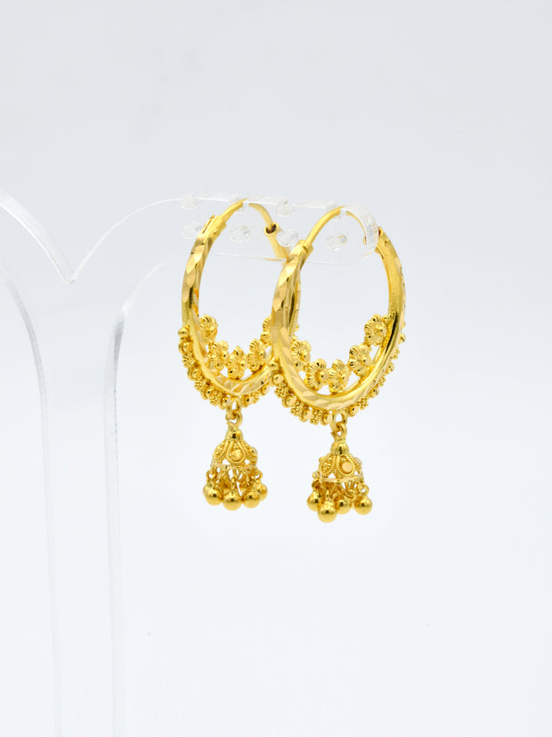 22ct Gold Filigree Jhumki Bali