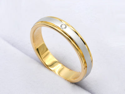 18ct Gold 0.02ct Diamond Band Ring