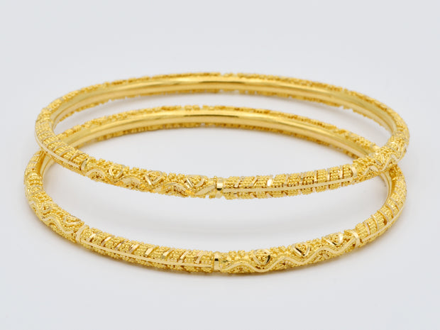 22ct Gold 2 Piece Bangles