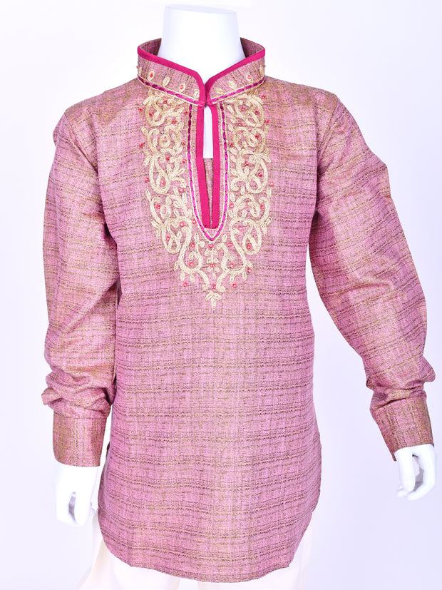 Pink Shaded Embroidered Kurta