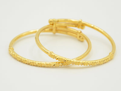 22ct Gold 2 Piece Baby Bangles
