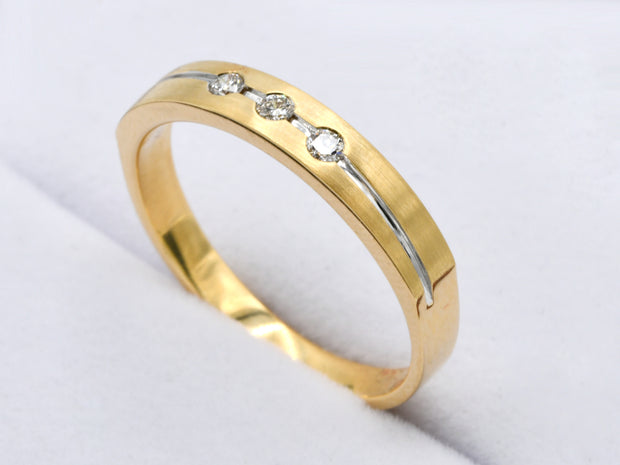 18ct Gold 0.10ct Diamond Band Ring