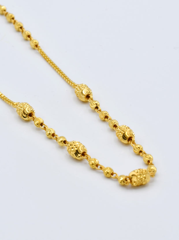 22ct Gold Fancy Ball Box Chain