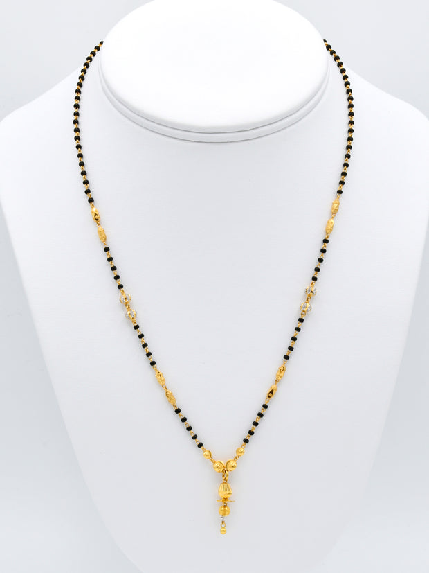 22ct Gold Two Tone Mangal Sutra with Hanging
