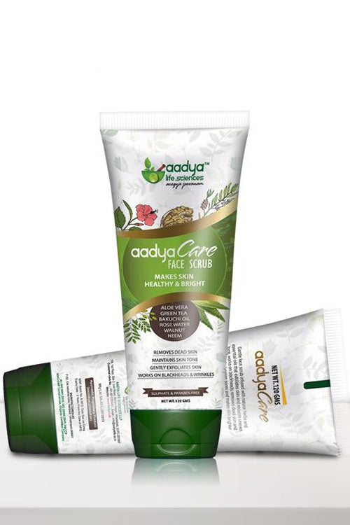Aadya Care Face Scrub - 120 gm - Roop Darshan