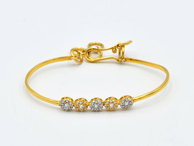 22ct Gold 1PC CZ Baby Bracelet