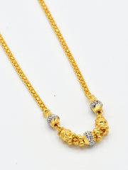 22ct Gold Two Tone Fancy Ball Chain