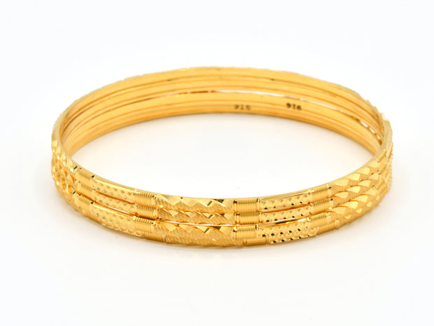22ct Gold 4 Piece Machine Cut Bangle