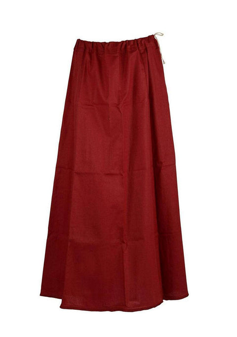 Maroon Cotton Petticoat