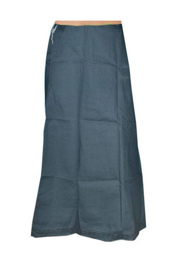 Grey Cotton Petticoat - Roop Darshan