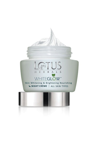 Lotus Herbals WHITEGLOW Skin Whitening & Brightening Nourishing Night Cream_60 gm