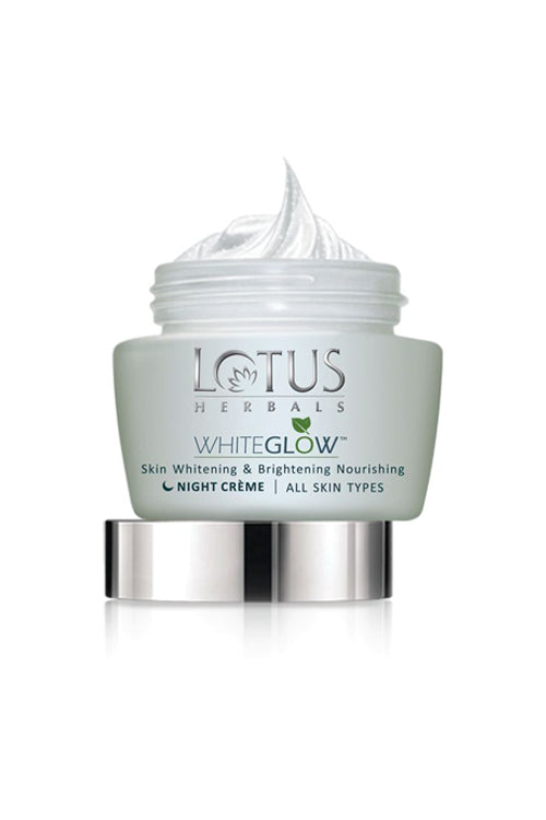 Lotus Herbals WHITEGLOW Skin Whitening & Brightening Nourishing Night Cream_60 gm - Roop Darshan