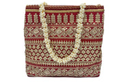 Tiki Embroidered Handbag