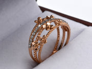 18ct Rose Gold CZ Ring