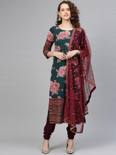 Rosa Floral Straight Suit