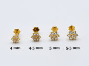 22ct Gold CZ Nose Pin - 5.5 mm