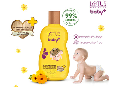 Lotus Herbals baby+ Eternal Love Baby Massage oil 100ml - Roop Darshan