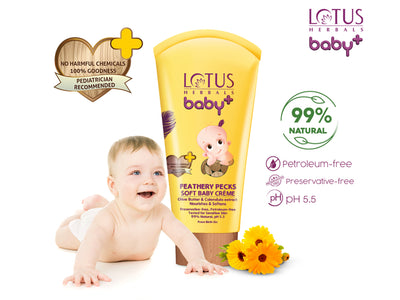 Lotus herbals baby+ Feathery Pecks Soft Baby Crème 50gm