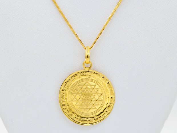 22ct Gold Shree Laxmi Yantra Pendant