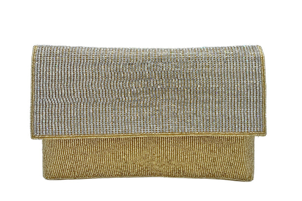 Stone & Sequin Embroidered Clutch